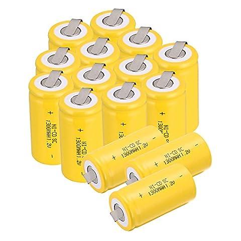 Anmas Power Sub C SC 1.2V 1300mAh Ni-Cd NiCd rechargeable batteries avec robinet