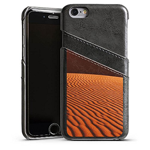 Apple iPhone 4 Housse Étui Silicone Coque Protection Désert Sable Dunes Étui en cuir gris