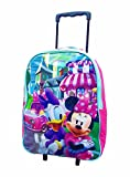 KIDS NEW DISNEY MARVEL WHEELED TROLLEY BAG SUITCASES (Minnie Mouse)