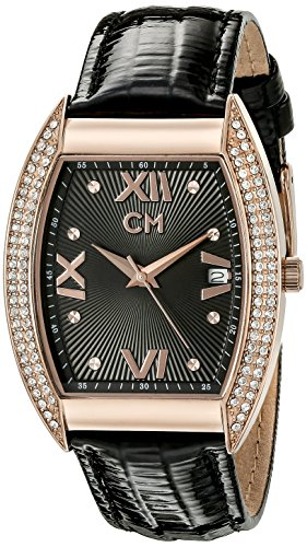 Carlo Monti Brescia Women's Quartz Watch with Black Dial Analogue Display and Black Leather Strap CM508-322