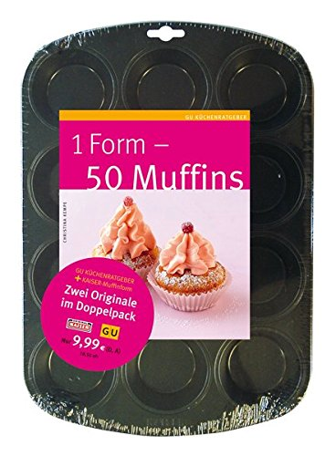 1 Form - 50 Muffins, m. Muffins-Backform -