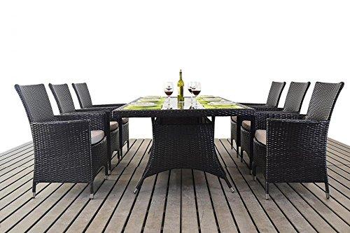 Kingston garden furniture 6 seater rectangular dining for 12 seater dining table sydney