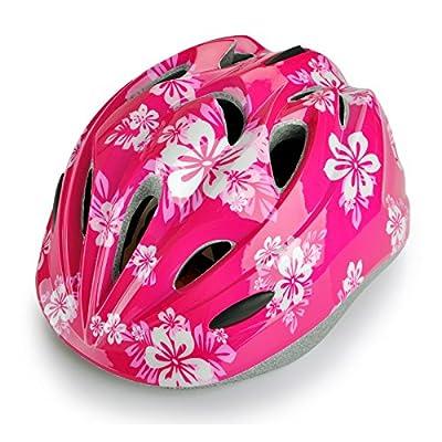 Children Cycle Helmets Pink Flower Helmet for Girls Size 46-56cm by Skyrocket