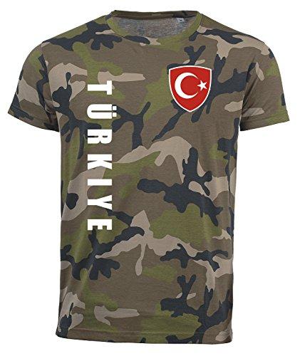 aprom Türkei T-Shirt Camouflage Trikot Look Army Sp/A (L) (Shirts Türkei)