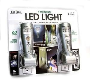 Eco-Lite 4 Function LED Lights 2 Pack