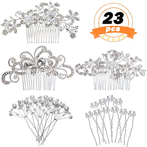 MOAMUN Set of 23pcs Bridal Hair ...