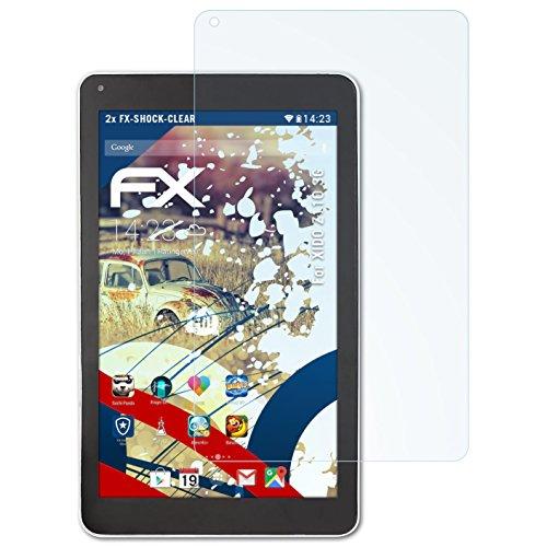 atFolix Schutzfolie kompatibel mit XIDO Z110 3G Panzerfolie, ultraklare & stoßdämpfende FX Folie (2X)