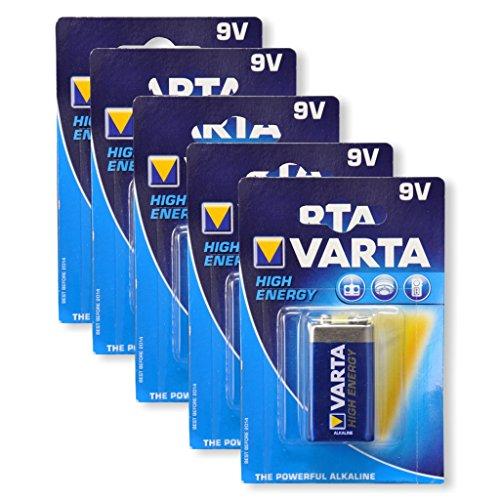 Varta 4922 High Energy 9V Block batterie schwarz