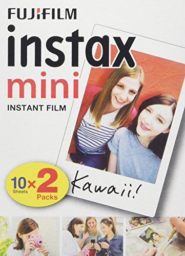 Fujifilm - Twin Films pour Instax Mini - 86 x 54 mm - Pack 2 x 10 Films
