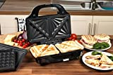 from Salter Salter EK2143 Deep Fill 3-in-1 Snack Maker with Waffle, Panini and Toasted Sandwich Plates, 900 W Model EK2143