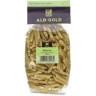 Alb-Gold Dinkel-Röhren (Penne) bronze, 6er Pack (6 x 250 g Packung) - Bio
