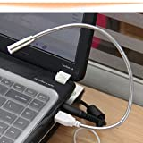 HuaYang Mini Portable USB LED Lampe angle réglable lampe USB pour PC Notebook Laptop
