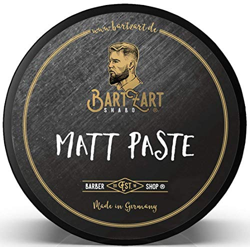 BartZart 100ml Haarwachs I Matt Paste für perfektes Styling mit starkem Halt I Hair Wax für Männer I Haarstyling Pomade für mehr Volumen im Haar