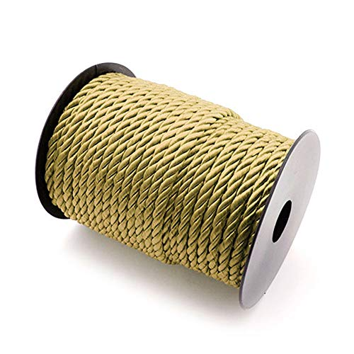 RUBY - Kordel gold, drehkordel, geflochten, nylon, rayon Cord 5.5mm, 30 Meter Spule (Gold) (Kordel Gold)