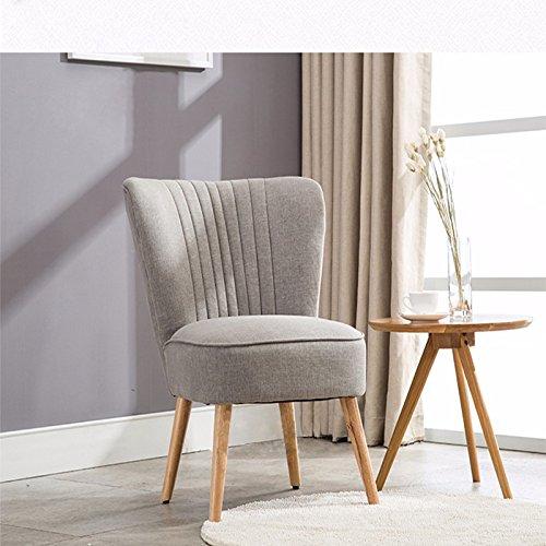Anaelle Pandamoto Sofa Tissu de lin Moderne Chaise Fauteuil Canapé pour Salle à manger, Salon, Bureau, Taille: 51 x 45 x 74cm, Poids: 10kg