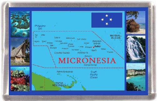 Mikronesien Karte Großhandelspackung 12 Geschenk-Andenken-Kühlschrank-Magnete (Karte Von Mikronesien)