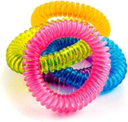 Mosquito Repellent Bracelets - 10 Pack - All Natural, Deet Free and Waterproof Bands for Adults and Children