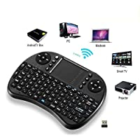 iPazzport i8 mini Keyboard Air Mouse Multi-Media Remote Control Touchpad Handheld for TV BOX PC Laptop Tablet Raspberry PI (Black)