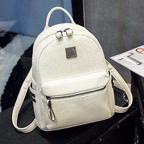 pu - mini - backpack tasche nieten,weiße weiße