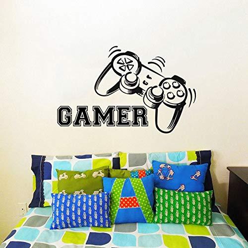 fkleber Spielen Aufkleber Gaming Poster Gamer Vinyl Wandtattoos Parede Decor Wandbild Videospiel Aufkleber-157x100cm ()