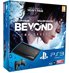 Console PS3 Ultra slim 500 Go Noire + Beyond : Two Souls + The Last of Us