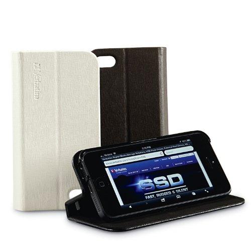 Verbatim 98088-custodia A Libro Per Iphone 5, Colore Caffè - verbatim - ebay.it