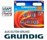 Grundig Knopfzellen-Set 1x CR 2016, 1x CR 2025, 3x CR 2032