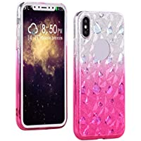 Funda iPhone XS Max, Amcor Love 2 en 1 Desmontable Carcasa, Ultra Delgado Silicona