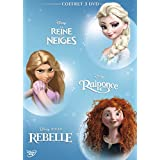 Coffret 3 DVD -  Les héroïnes: La Reine des neiges + Raiponce + Rebelle