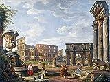 Feeling at home Impresion-en-Papel-Un-Capriccio-Veduta-di-Roma-con-il-Colosseo-Panini,-Giovanni-Paolo-Museo-44_X_60_cm
