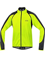 Gore Bike Wear Phantom 2.0 Windstopper Soft Shell - Chaqueta para hombre, color amarillo neón / negro, talla L