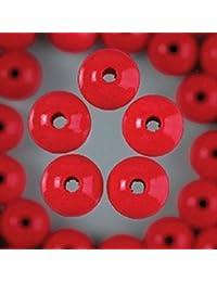 Efco 4mm Maxi 150pièces en perles de bois trou, Rouge