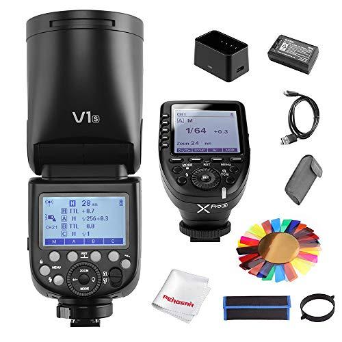 Godox V1-S-blitzgerät für Sony 2,4 G TTL-Blitz mit rundem Kopf, 1/8000 HSS, 480 Aufnahmen mit voller Leistung, 1,5 s Wiederaufbereitungszeit, 2600 mAh Lithium-Batteri - Power Clamp Meter
