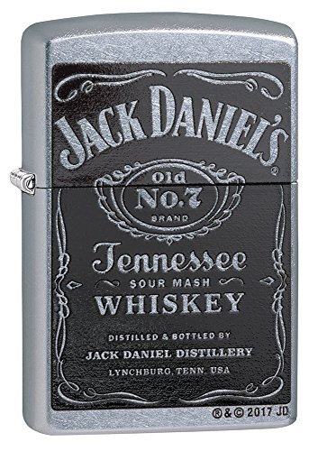 Zippo Jack Daniel's Label Lighter - Street Chrome