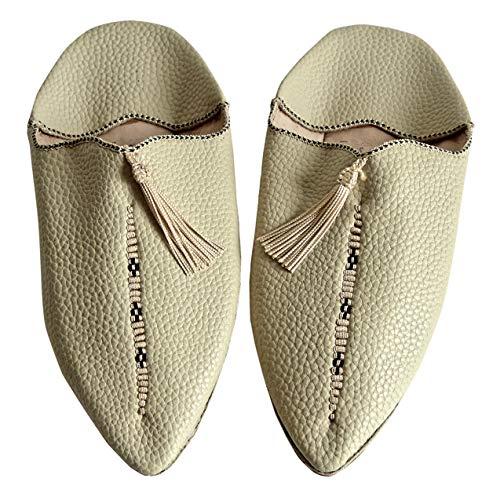 ch - orientalische Babouches Leder (38 EU, beige) ()