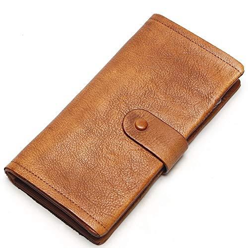 Echte Leder-Clutch Bag Handtaschen Handtaschen High Capacity 19 Card Slot-Karte Holder Leisure Leder Long Wallet Cowhide Geldbörse (Slot 19 Card Wallet)
