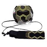 Cisixin Ballon de Football d'entraînement avec élastique, Ceinture d'entraînement Réglable pour Football