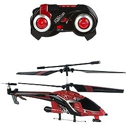 Sky Rover - Helicóptero teledirigido & pilotaje automático - 24 cm rojo (ColorBaby 85005)