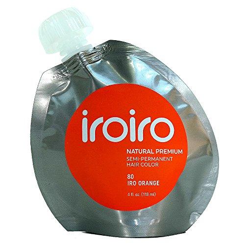 IroIro Premium Natural semipermanente color de pelo 80Iro naranja 4oz