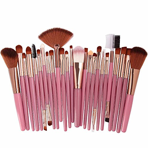 Cwemimifa Großer Puderpinsel,25pcs Cosmetic Makeup Brush Blusher Eye Shadow Brushes Set Kit,Mehrfarbig B - Große Shadow Brush