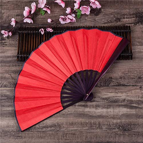 Chinesisch Japanisch Einfarbig Bambus Große Rave Folding Hand Fan Event Party Supplies Für Männer/Frauen,5 ()