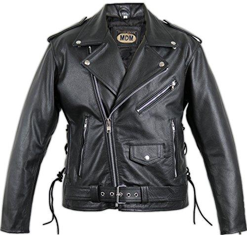 Motorrad Lederjacke Rocker Jacke (XL) -