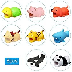 leegoal Cute Animaux Cable morsures, Cable Protector pour iPhone Cable Cordon Mignon Animal Phone Accessoire protège Cable Accessoire 8PCS