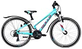 Jugend Fahrrad 24 Zoll hellblau - Bulls Mädchen Bike Zarena Street - Shimano Schaltung, StVZO Beleuchtung