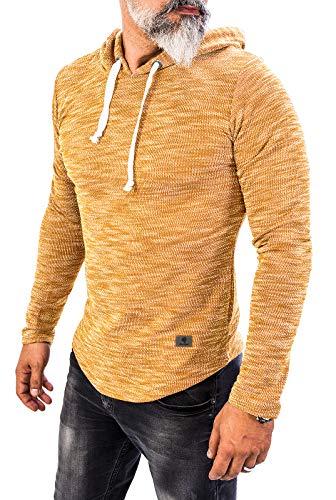 Rock Creek Herren Longsleeve Shirt Langarm Hoodie Sweatshirt Kapuzenpullover Langarmshirt Herrenpulli Street Style H-143 Camel L