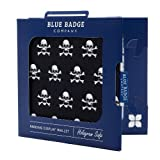 Blue Badge Company - Custodia per permesso disabili e disco orario, a portafoglio, motivo: pirati