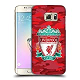 Official Liverpool Football Club Home Colourways Crest Camou Hard Back Case for Samsung Galaxy S7 Edge