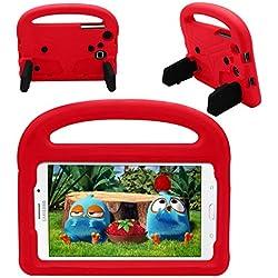 Carcasa de Samsung Galaxy Tab A 7.0, espuma EVA resistente a los golpes y a prueba de niños. Carcasa protectora para Samsung Galaxy Tab 3 Lite 7.0/Tab 4 7.0/Tab A 7.0/Tab 3 7.0 P3200( Rojo)