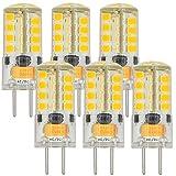 MENGS® 6 Stück GY6.35 3W LED Lampe Warmweiß 3000K AC/DC 12V 36x2835 SMD Mit Silikon Mantel