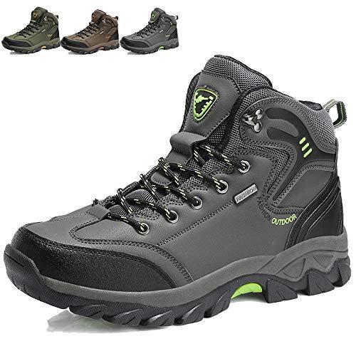 KAMIXIN Scarpe da Escursionismo Uomo Donna Stivali da Escursionismo Alti Scarpe da Arrampicata Scarpe da Trekking All'aperto Sneakers Calzature da Escursionismo Grigio EU41